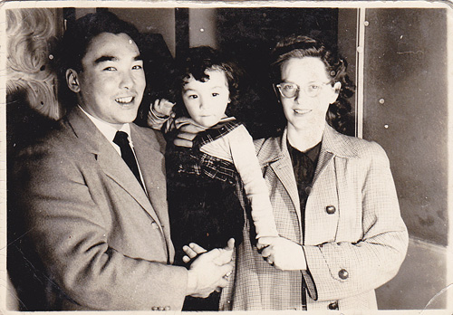 Cathy Tashiro and parents